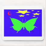 Mariposa verde alfombrilla de ratón