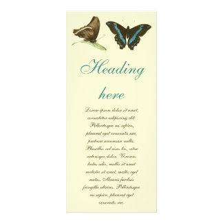 """mariposa Verde-congregada de Swallowtail, Folleto Publicitario 4"""" X 9"""""""