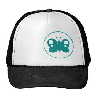Mariposa verde del trullo gorras