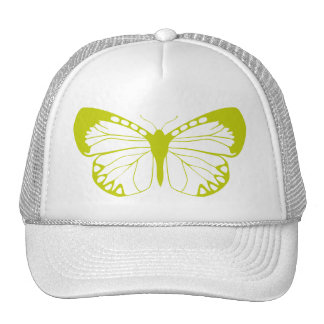Mariposa verde gorros bordados