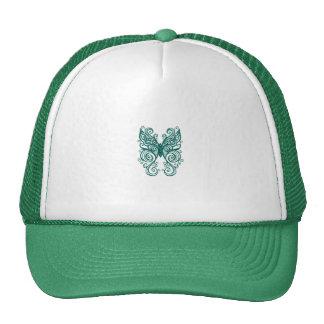 Mariposa verde gorro