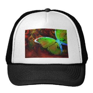 Mariposa verde gorra