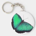Mariposa verde llaveros