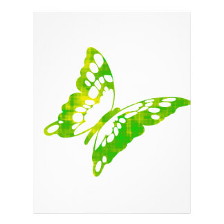 Mariposa verde plantilla de membrete