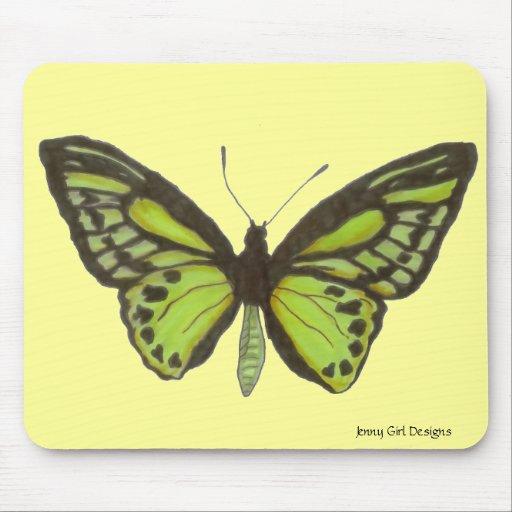 Mariposa verde Mousepad
