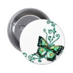 mariposa verde pin