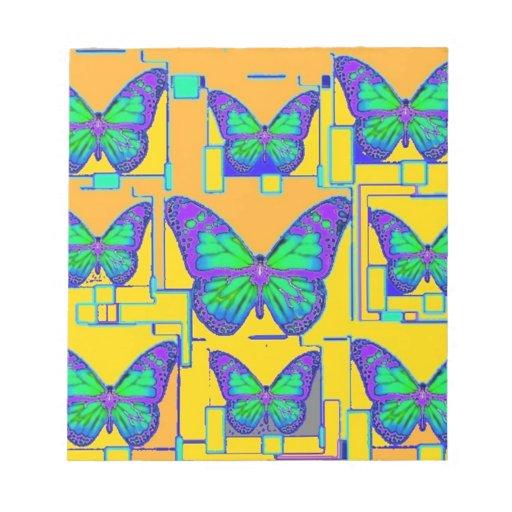 Mariposa verde, púrpura del añil, regalos por Shar Blocs De Notas