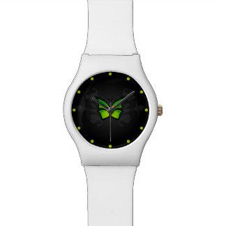 Mariposa verde relojes