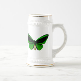 Mariposa verde Stein Jarra De Cerveza