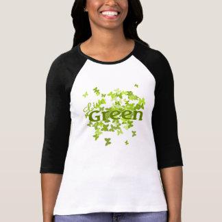 mariposa verde viva camiseta