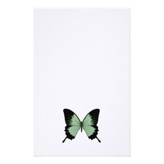 Mariposa verde y negra grande  papeleria
