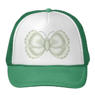 Mariposa verde y poner crema gorros