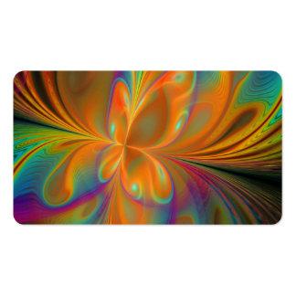 Mariposa vibrante abstracta del fractal tarjetas de visita