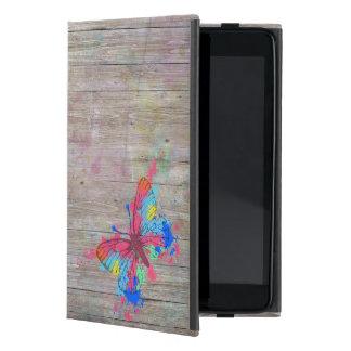 Mariposa vibrante linda fresca del vintage de los  iPad mini cobertura