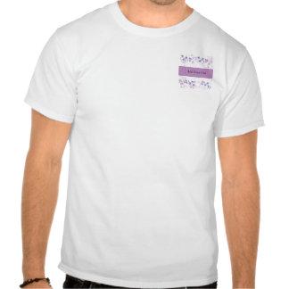 Mariposa Vision en púrpura de la lila Camisetas