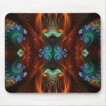 Mariposa visionaria Mousepad del fractal Tapetes De Ratón