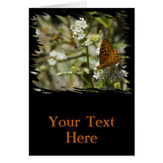 Mariposa y abeja anaranjadas felicitaciones
