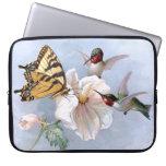 Mariposa y colibríes funda portátil