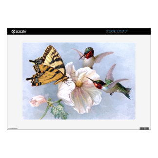 Mariposa y colibríes portátil skins