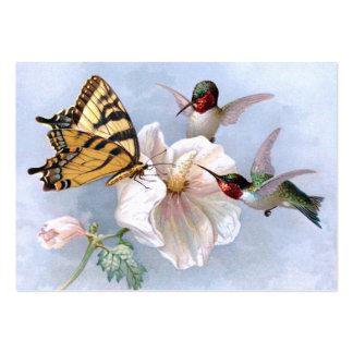 Mariposa y colibríes tarjeta de visita