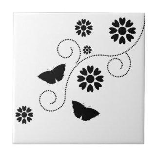 Mariposa y corazones tejas  ceramicas