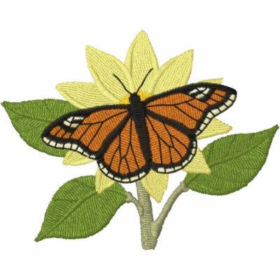 Mariposa y flor sudadera con serigrafía