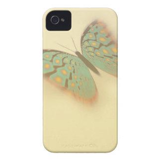 Mariposa y flores de lujo iPhone 4 carcasa