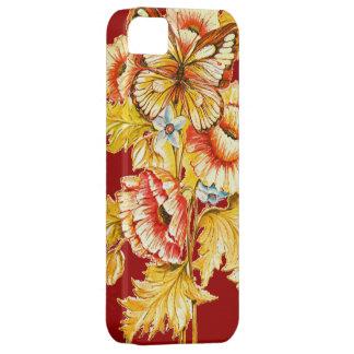 Mariposa y flores del vintage iPhone 5 Case-Mate funda