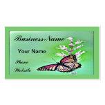 Mariposa y flores dulces plantillas de tarjeta de negocio