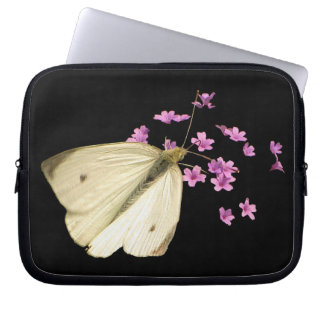Mariposa y flores fundas ordendadores