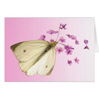 Mariposa y flores Pascua Felicitacion