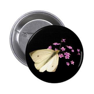 Mariposa y flores pins