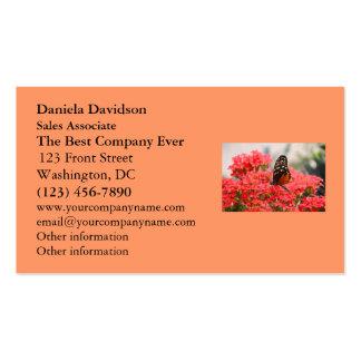 Mariposa y flores plantillas de tarjetas personales