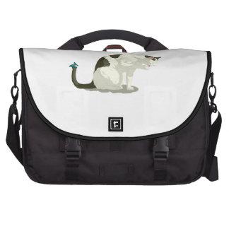 Mariposa y gato del baño bolsas de portatil