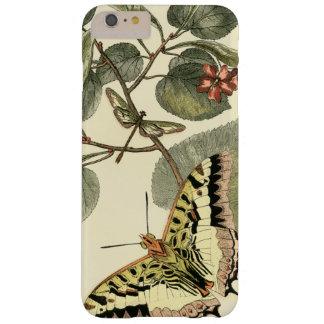 Mariposa y libélula con las flores rojas funda para iPhone 6 plus barely there