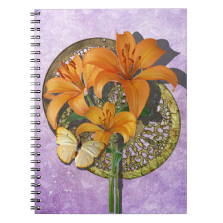 Mariposa y Lillies Notebook