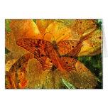 Mariposa y lirio de oro - tarjeta