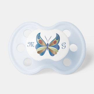 Mariposa y monograma 3 - pacificador chupetes