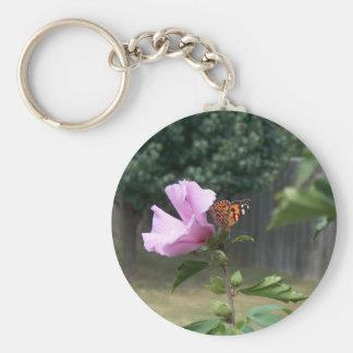 Mariposa y rosa de Sharon Llaveros