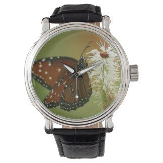 Mariposa y señora Bug Relojes De Pulsera