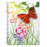 mariposa y tréboles coloridos frescos libro de apuntes
