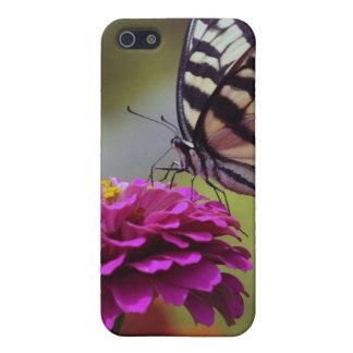 Mariposa y Zinnia amarillos de Swallowtail iPhone 5 Fundas
