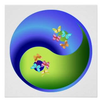 Mariposa Yin Yang Impresiones