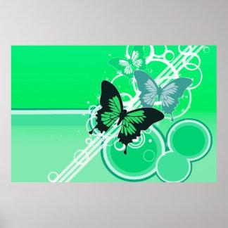 Mariposas 2 del círculo impresiones