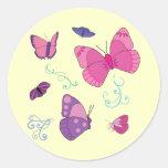Mariposas 2 F de Kaylas Pegatina Redonda