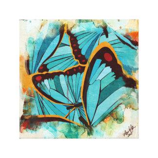 Mariposas abstractas 1 impresión de lienzo