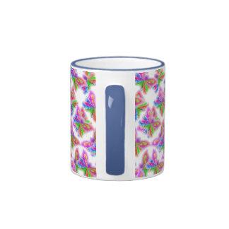Mariposas abstractas (azules) tazas
