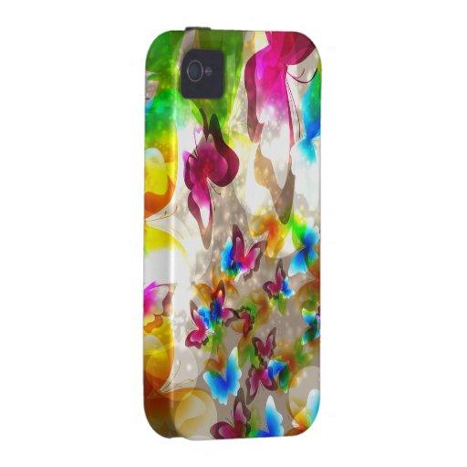 Mariposas abstractas carcasa Case-Mate para iPhone 4