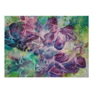 Mariposas abstractas en lila y la impresión azul d posters