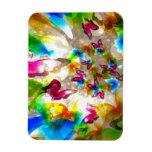 Mariposas abstractas iman rectangular